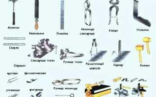Виды инструментов для обработки металлов