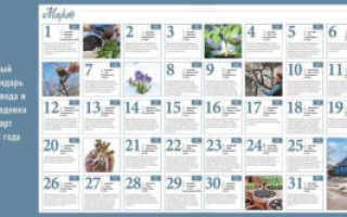 Лунный календарь садовода и огородника на март 2020 года